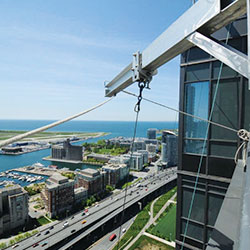 High rise window cleaning Calgary rope access