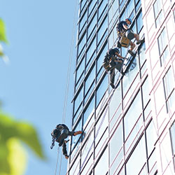 High rise window cleaning Calgary safety and insurance